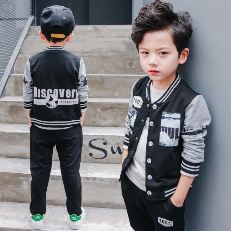 เสื้อแจ๊คเก็ต+กางเกงขายาว สีดำ