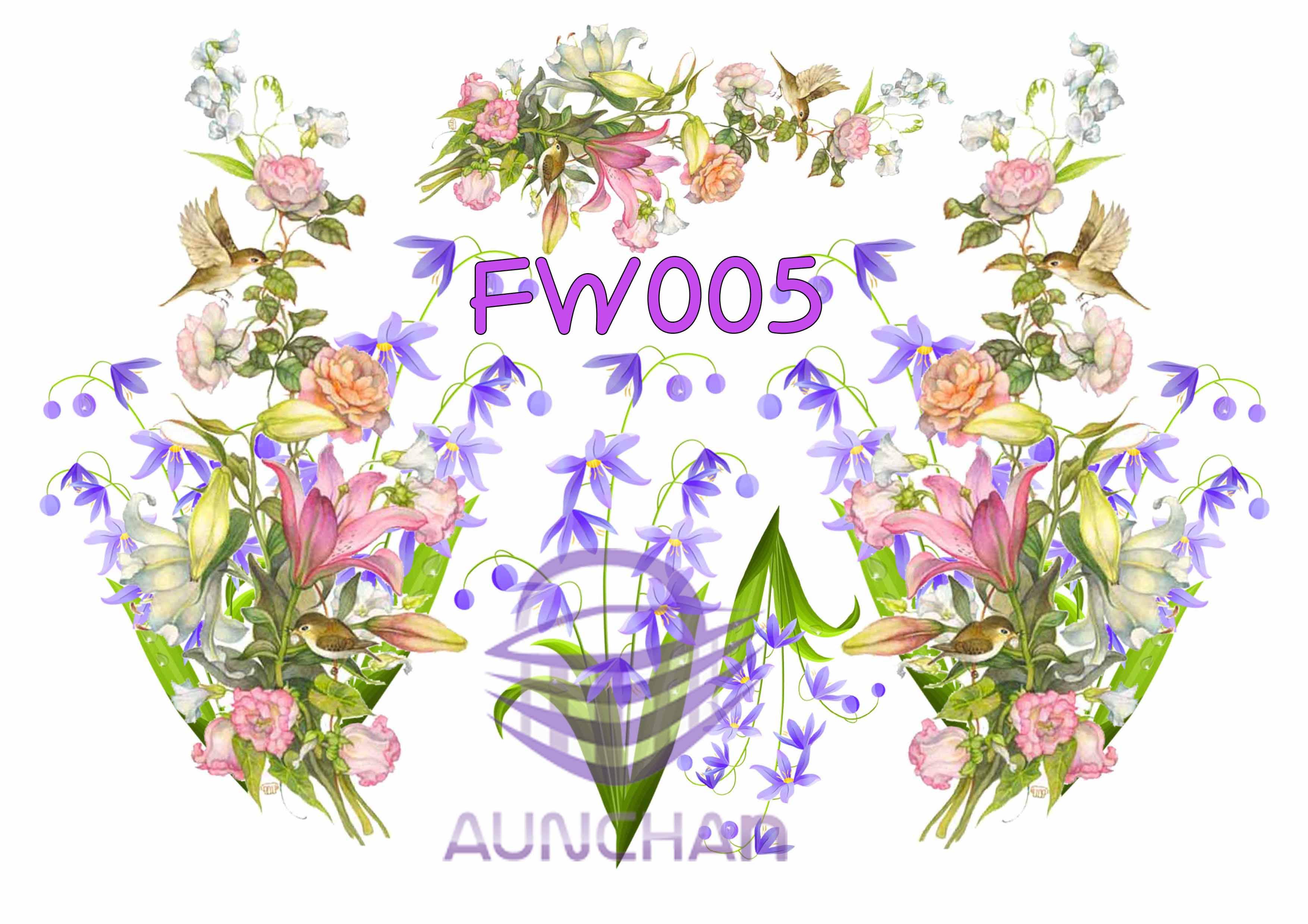 FW005 กระดาษแนพกิ้น 21x30ซม. ลายดอกไม้