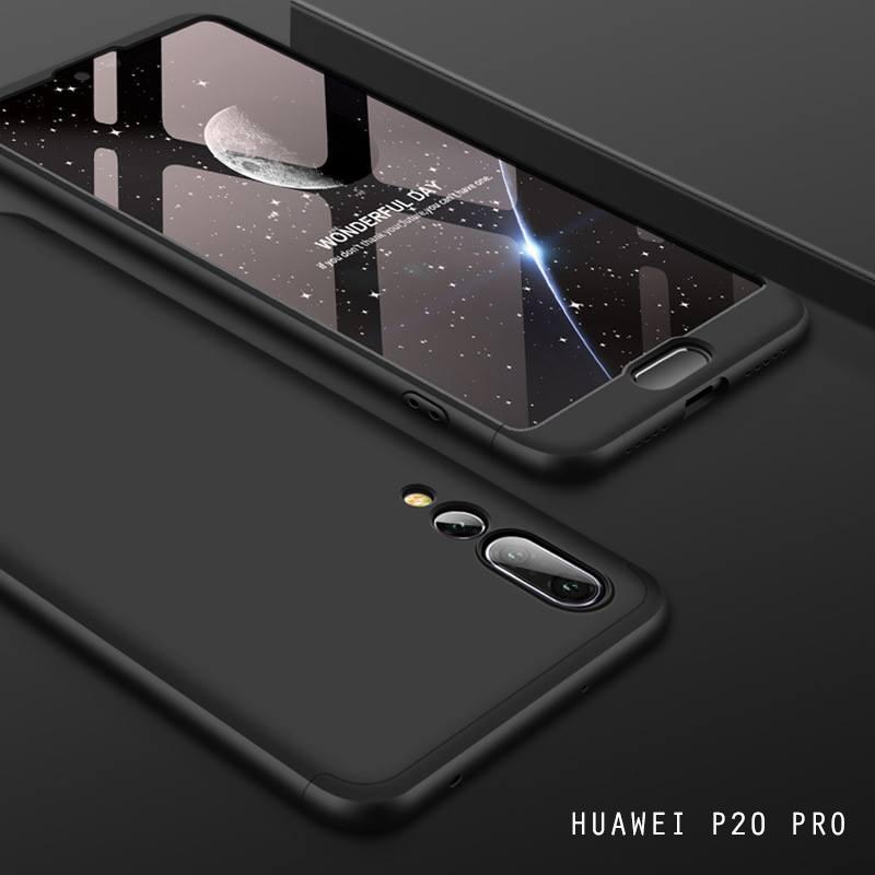 เคส Huawei P20 PRO เคสแข็งแบบ 3 ส่วน ครอบคลุม 360 องศา (สีดำ - ดำ)