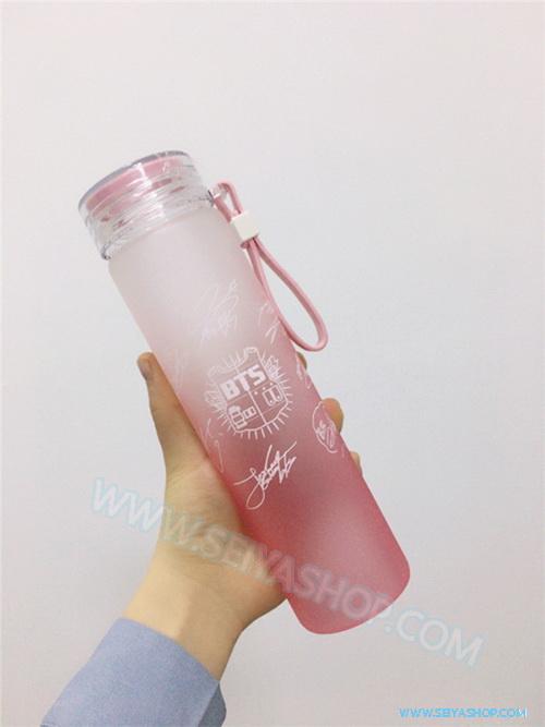 KBTX14 ขวดแก้วใส่น้ำ ของติ่ง BTS