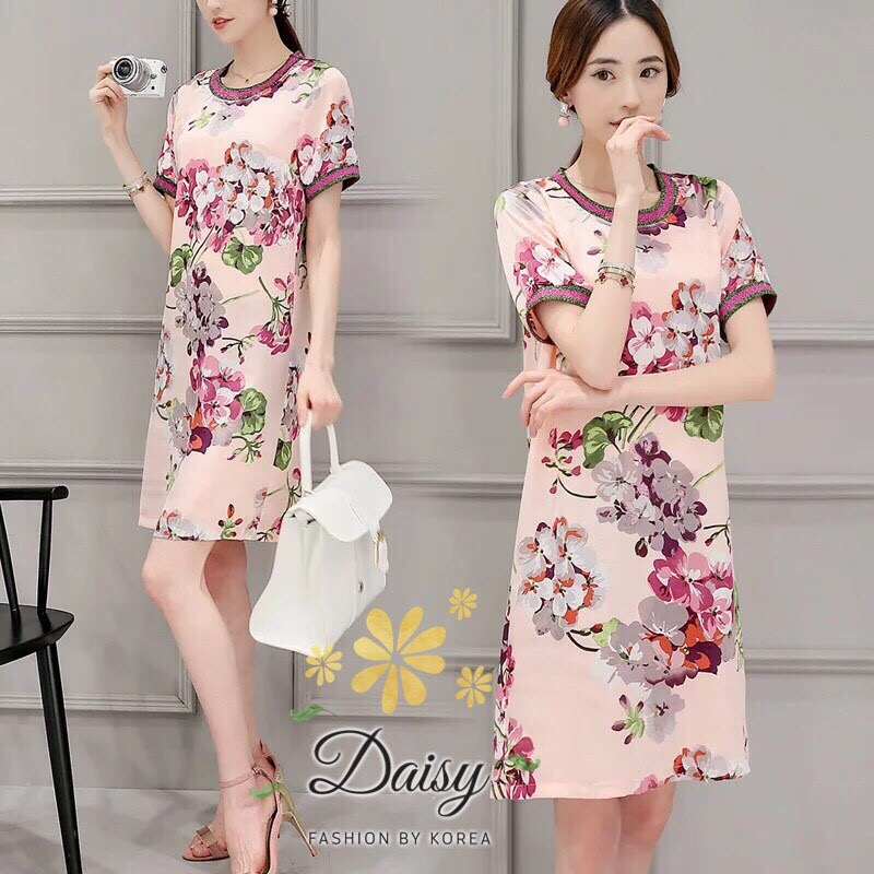Daisy gucci poly flower oldrose dress