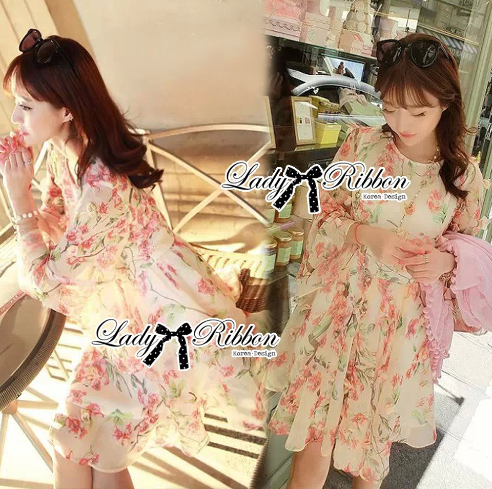 Lady Sakura Chiffon Dress L203-89C06