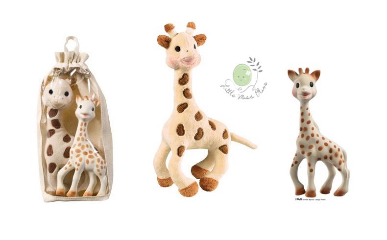 ของเล่น Set Sophie soft toy + latex toy