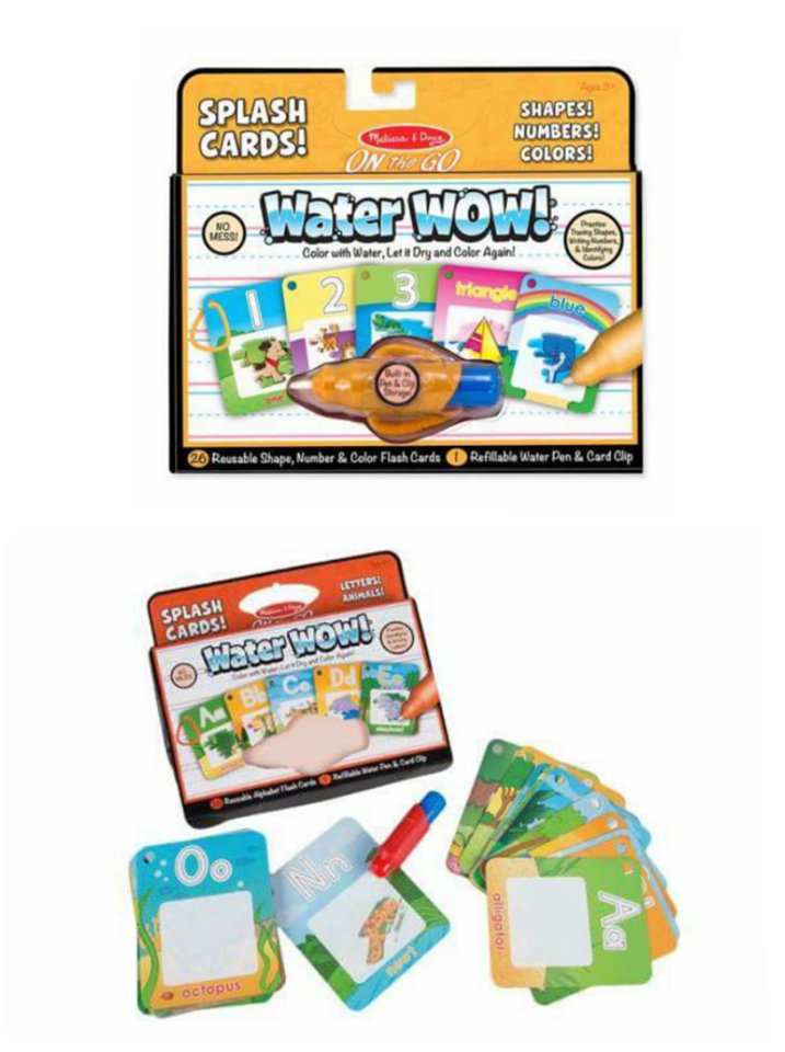 Water Wow Splash Card: Numbers and Shapes