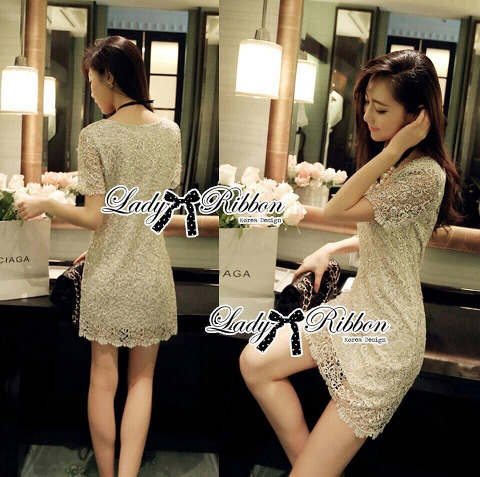 Lady Annie Ultimate Luxury Glitter Lace Dress L183-85C06