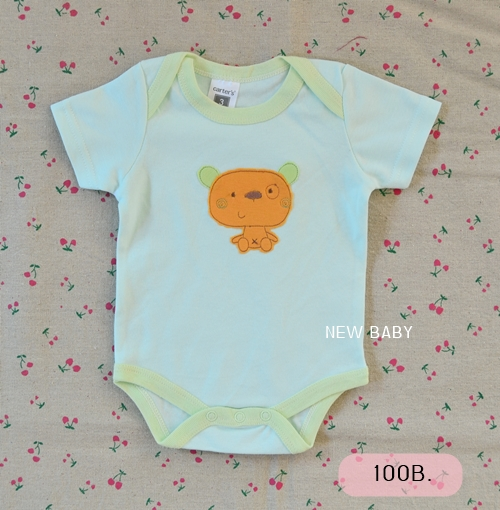 [ไซส์ 6-9 เดือน] บอดี้สูทเด็กปักลาย ผ้า Cotton 100%