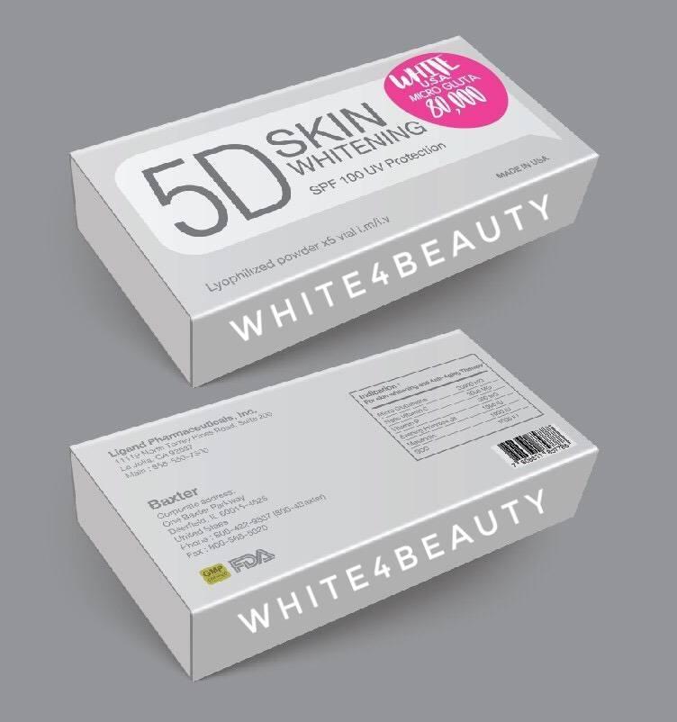5D SKIN WHITENING SPF 100 UV Protection 80,000 mg