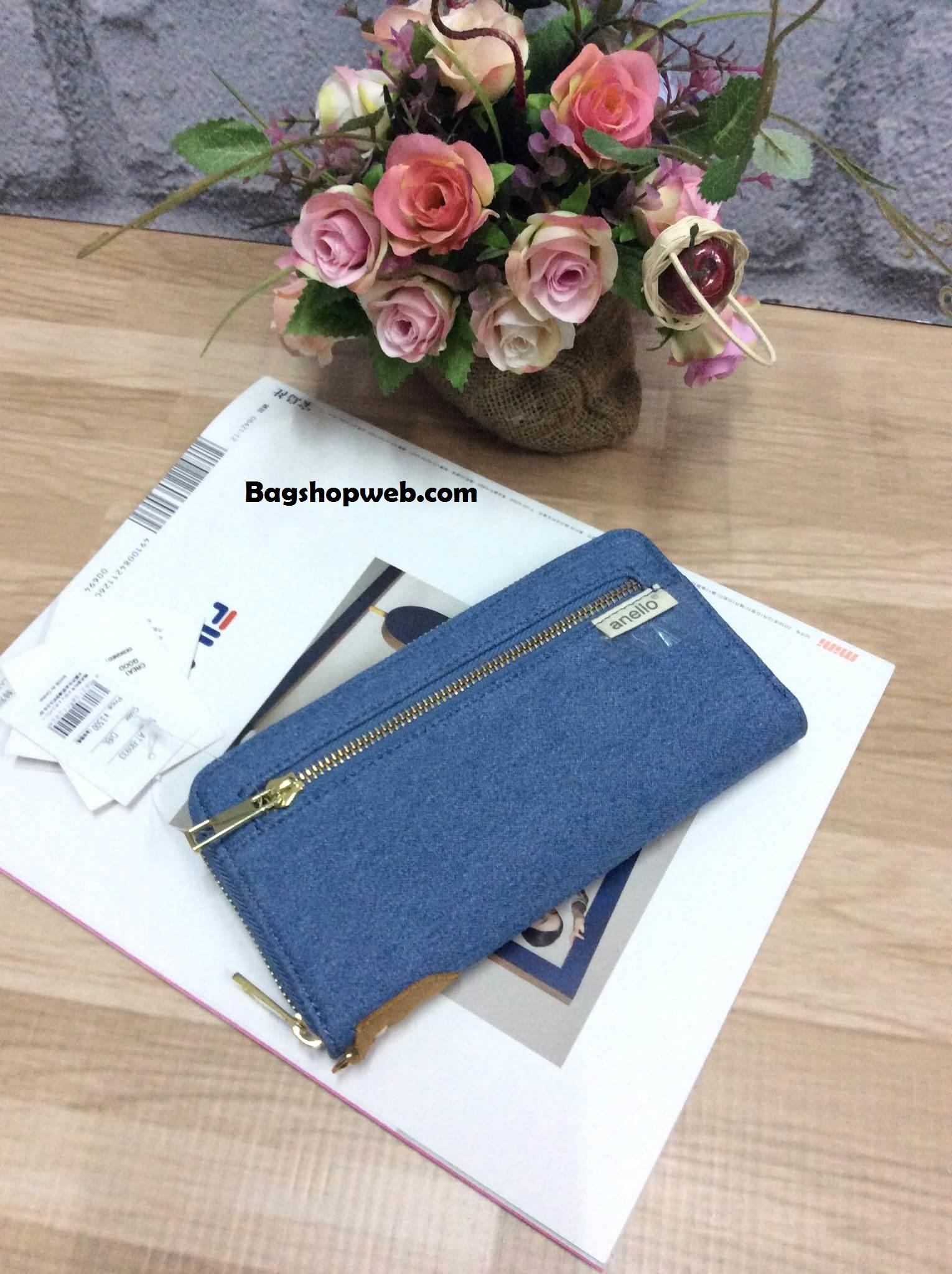 กระเป๋าสตางค์ Anello long wallet กระเป๋าสตางค์ทรงยาว แบบซิปรอบ น่ารักมากค่ะ แบบที่ 2