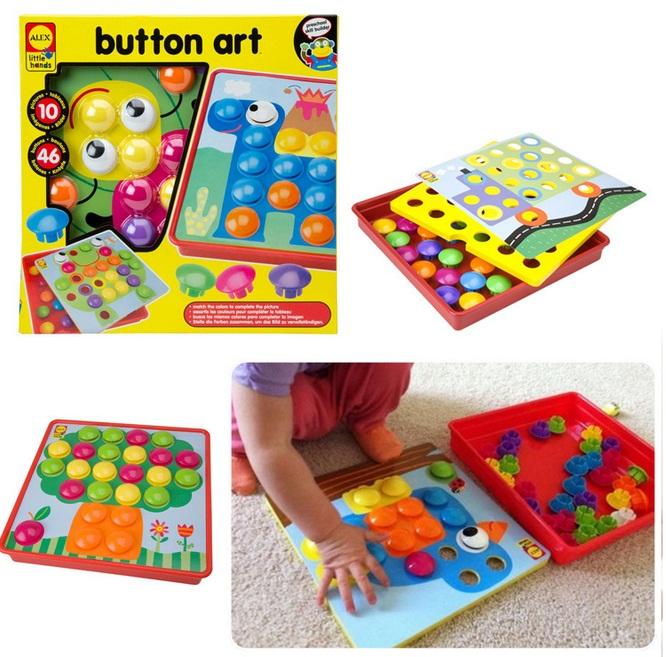 ชุดกระดานโมเสก ALEX Toys - Little Hands Button Art