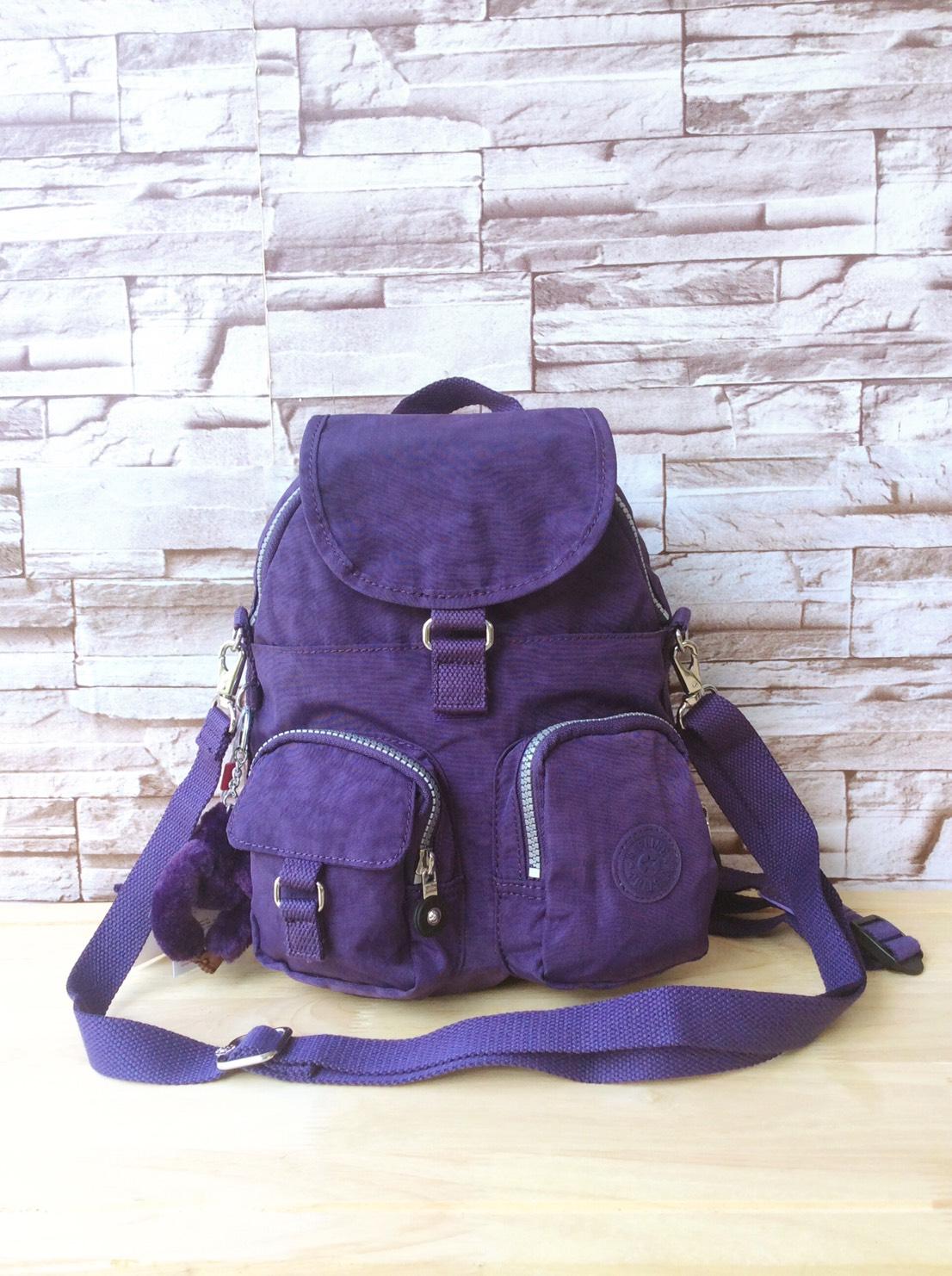 กระเป๋าเป้ Kipling Outlet HK สีม่วง กระเป๋าเป้ ขนาดเล็กขนาดกระทัดรัด
