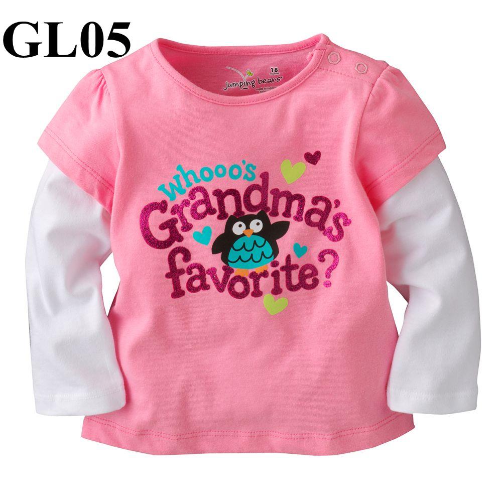 GL05 เสื้อแขนยาว Size 2T 3T ผ้ายืดอย่างดี หนา นิ่ม ยืดหยุ่น เนื้อผ้าดีมาก ใส่สบาย