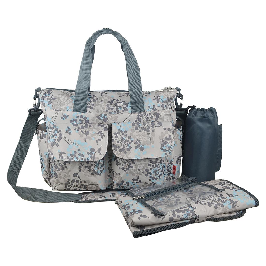 Ecosusi กระเป๋าสัมภาระสำหรับคุณแม่ กระเป๋าใส่ผ้าอ้อม ช่วยคุณแม่จัดระเบียบของให้ลูกน้อย กันน้ำ ช่องเยอะ (ECOSUSI Large Diaper Tote Baby Mummy Bag)