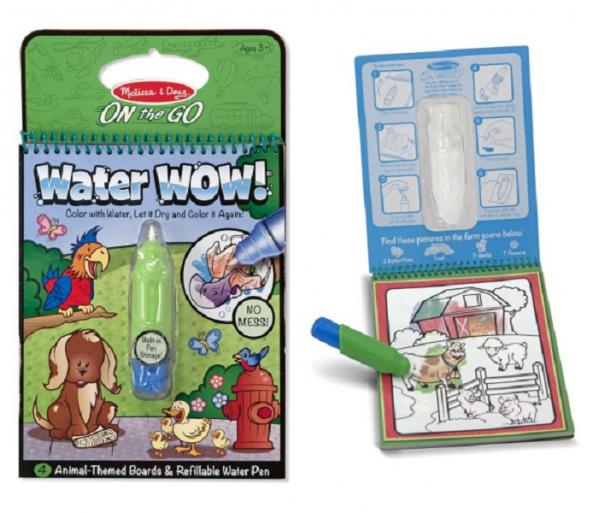 สมุดกระดานน้ำ ระบายสีรูปสัตว์ Melissa & Doug Water Wow Activity Book - Animals