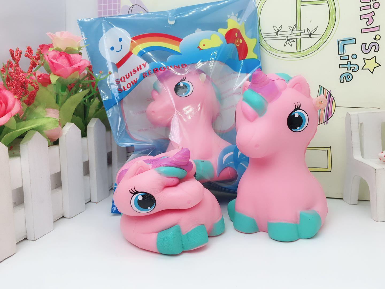 สกุชชี ลูกม้ายูนิคอร์น Squishy Pink Marshmallow Unicorn หอม นุ่ม สโลว์ๆ