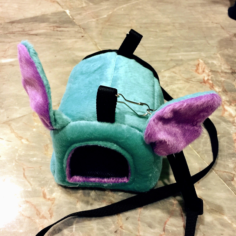 กระเป๋าผ้าขนนุ่มมีหู S ฟ้า