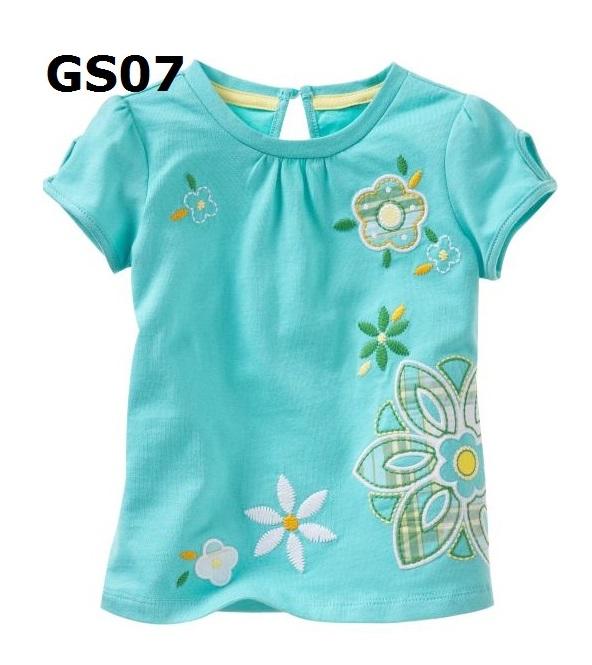 (GS07) เสื้อยืดแขนสั้น (Size 3T) ผ้าคอตตอนเนื้อดี นิ่ม ใส่สบาย