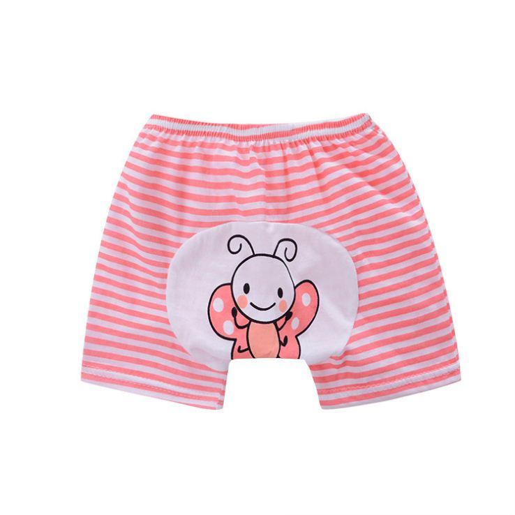 กางเกงก้นบานเด็กเล็ก ขาสั้น เป้าขยาย ลายผีเสื้อ Size 80/90/100 สำหรับเด็ก 0-3 ปี