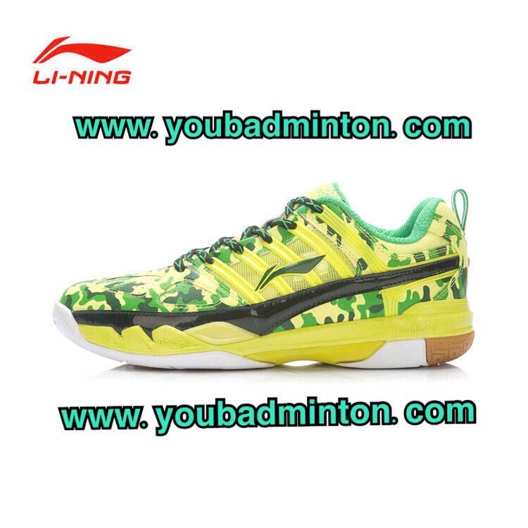รองเท้าแบดมินตัน LI-NING รุ่น AYAK072-2 สีเขียว ตัวใหม่ล่าสุด ปี 2015 (จัดส่งฟรี EMS!!)