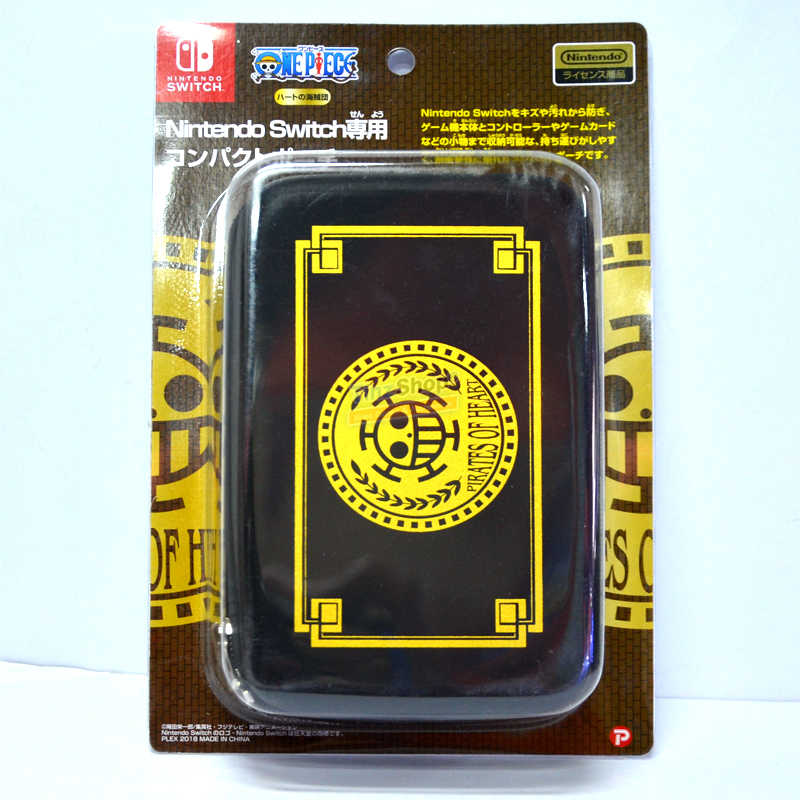 กระเป๋าลายวันพีช One Piece Heart Pirates Compact Pouch ของแท้ จากญี่ปุ่น [OP-135B] ราคา 790.-