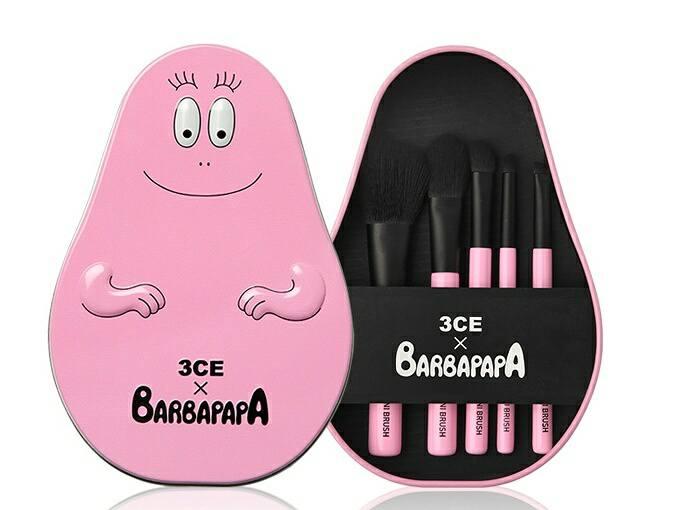 เซทแปรงแต่งหน้า 3CE x Barbapapa Brush Kit