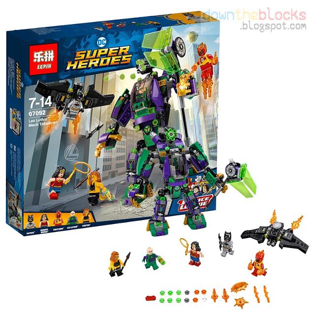 เลโก้จีน LEPIN.07092 ชุด Lex Luthor Mech Takedown