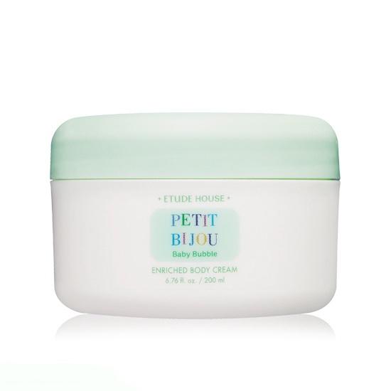 Etude House Petit Bijou Baby Bubble Enriched Boby Cream 200ml [ เคาน์เตอร์ไทย ]