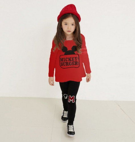 Pre-order ชุดเสื้อแดง+กางเกงดำ /มินนี่(สินค้าลิขสิทธิ์)