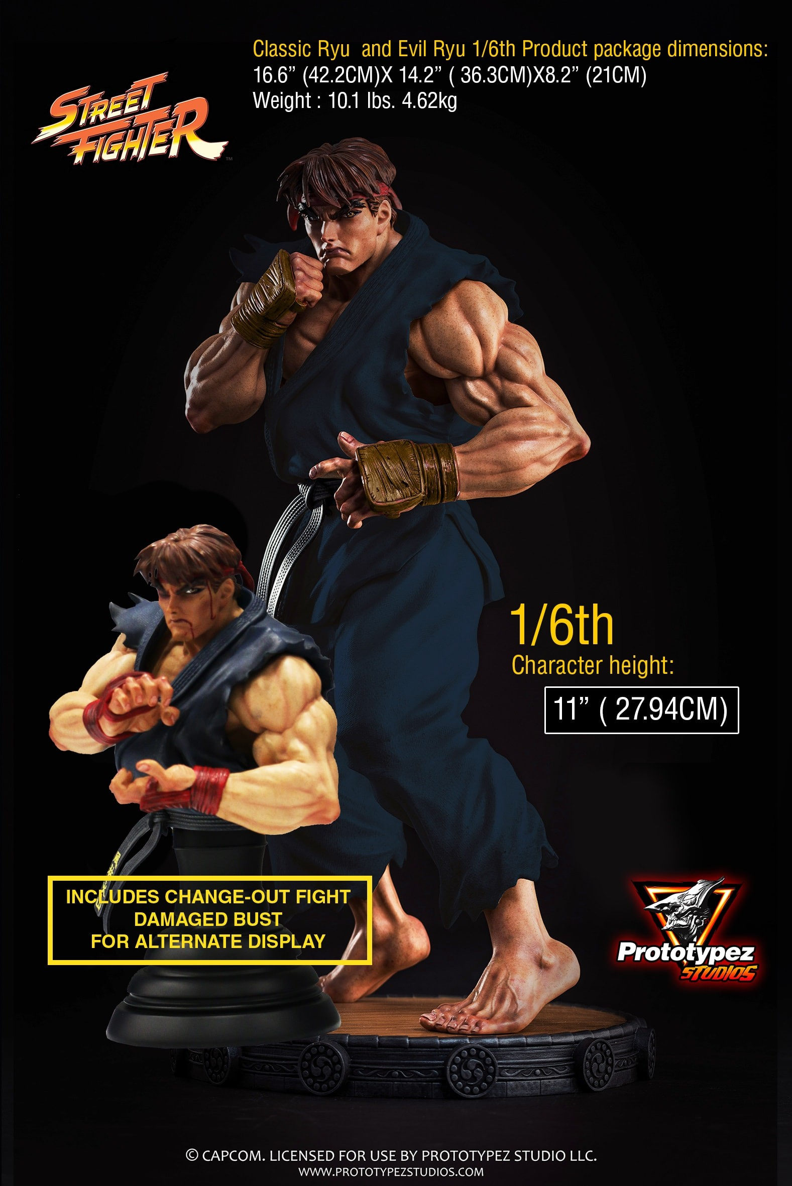 Prototypez Studios 1/6 Classic Ryu & Evil Ryu