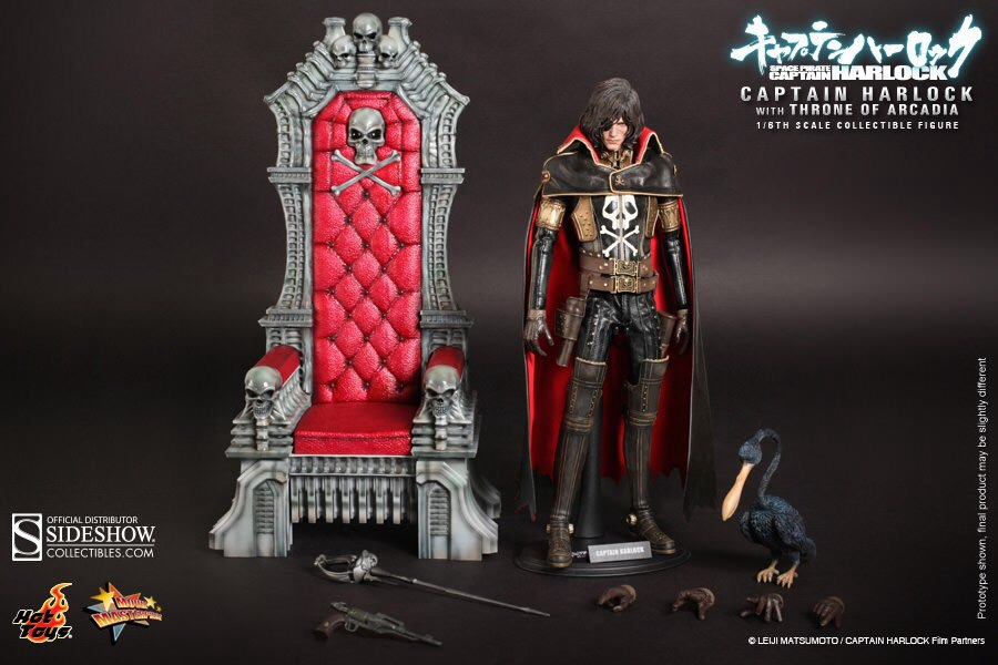 HOT TOYS MMS223 Captain Harlock wit throne of acadia