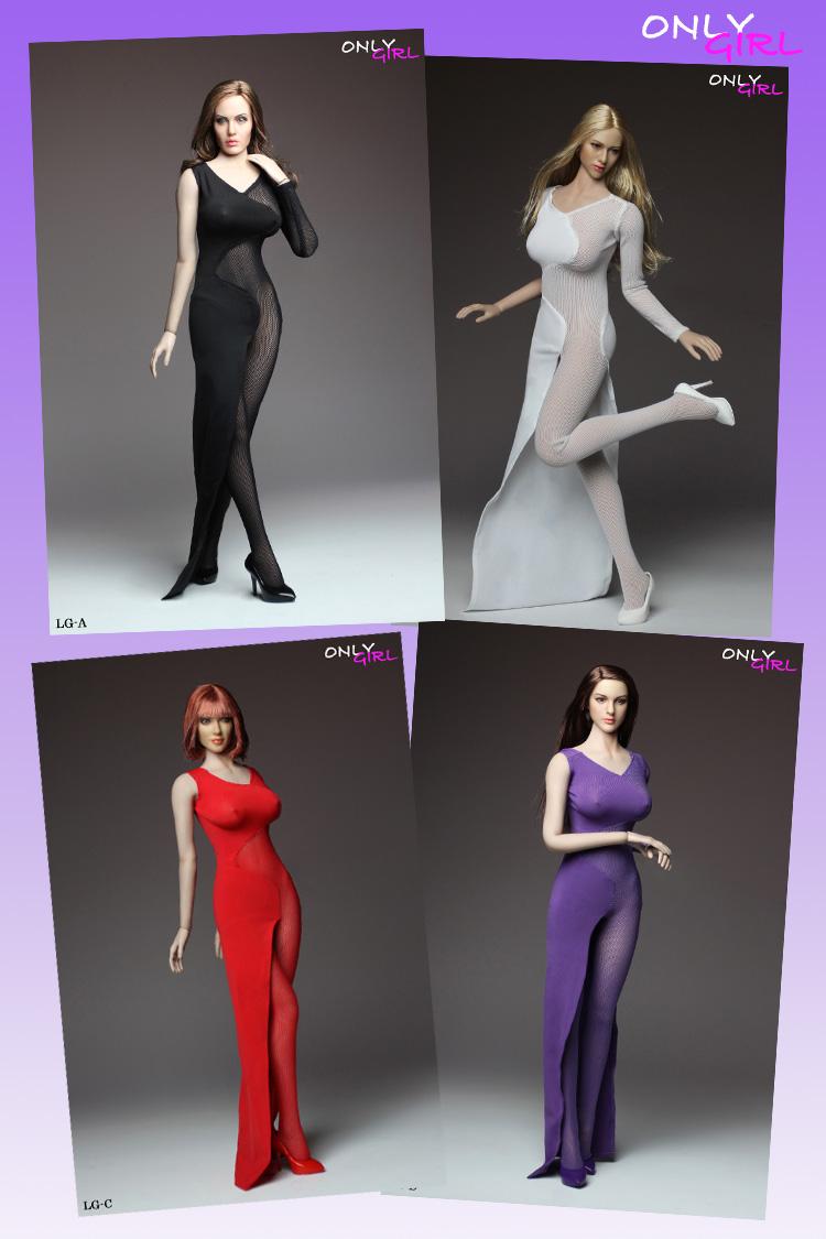 ONLYGIRL LG03A-D 1/6 Dress 4 Set