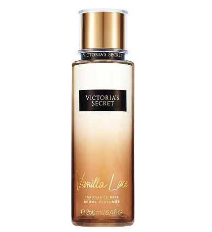 **พร้อมส่ง**Victoria's Secret Fantasies Vanilla Lace Fragrance Mist 250 ml. *แพคเกจใหม่ 2016* สเปร์ยน้ำหอมให้ความหอมรัญจวนใจ กลิ่นติดทนนาน 7-12 ชั่วโมง กลิ่นนี้ให้กลิ่นหอมหวานของวนิลลา รู้สึกนุ่มนวล ลึกลับน่าค้นหาคะ ,