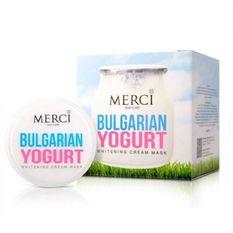 Merci Bulgarian Yogurt Whitening Cream Mask ครีมมาส์กบัลแกเรียโยเกิร์ต 30 กรัม