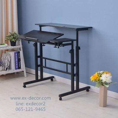 Pre-order โต๊ะทำงานปรับระดับ โต๊ะคอมพิวเตอร์ปรับระดับ โต๊ะพรีเซนต์งาน โต๊ะยืนทำงาน สีดำ