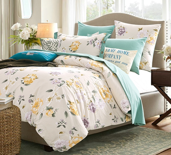 (Pre-order) ชุดผ้าปูที่นอน ปลอกหมอน ปลอกผ้าห่ม ผ้าคลุมเตียง ผ้าฝ้ายพิมพ์ลายดอกไม้สไตล์วินเทจ แมรี่แลนด์เซ็ท
