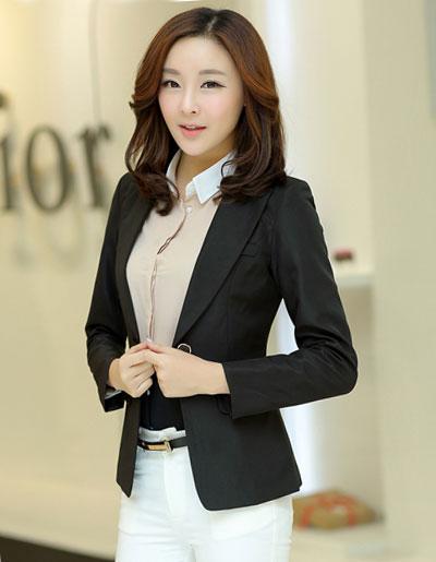 เสื้อสูทผู้หญิงใส่ทำงาน สไตล์เรียบหรู-1715-สีดำ