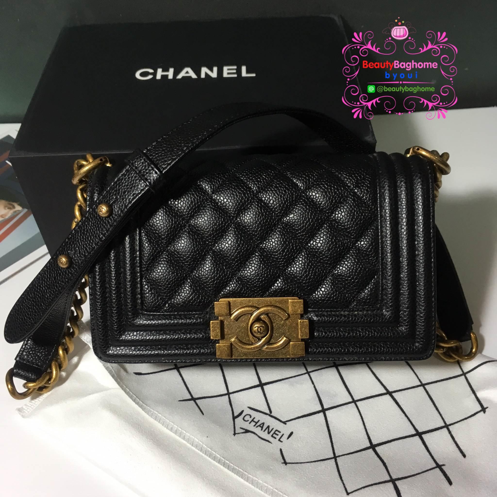 Chanel Boy size mini สีดำ งานHiend Original