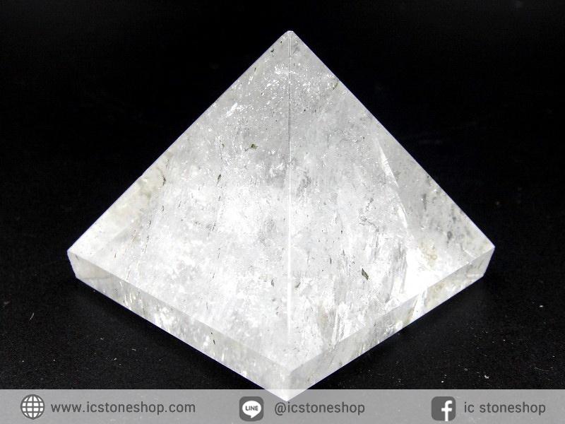 หินทรงพีระมิค-ควอตซ์ใส Clear Quartz (84g)