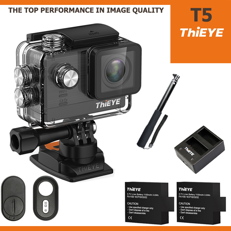 ThiEYE T5 4K 16Mp ไทย + Battery + Dual-charger + Actioncam Selfie + Remote