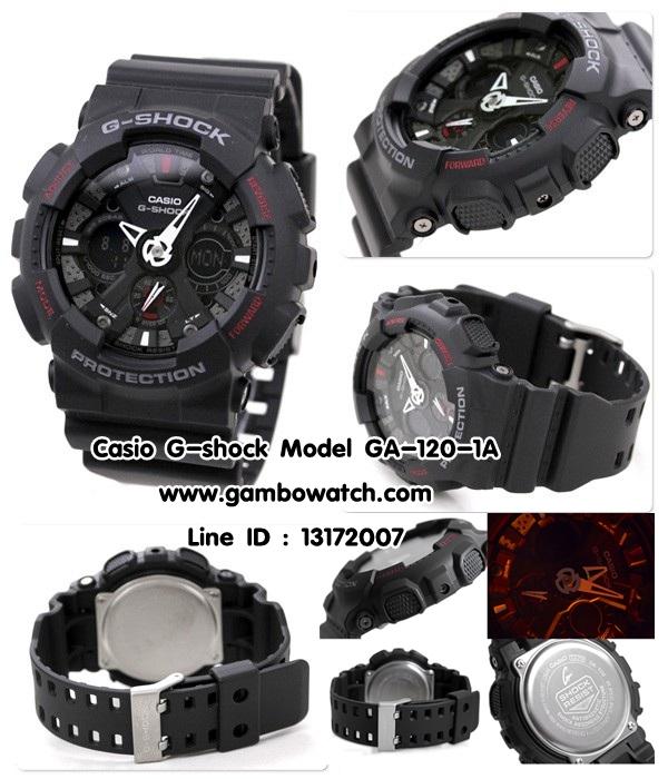 นาฬิกา CASIO G-SHOCK Standard Analog รุ่น GA-120-1A