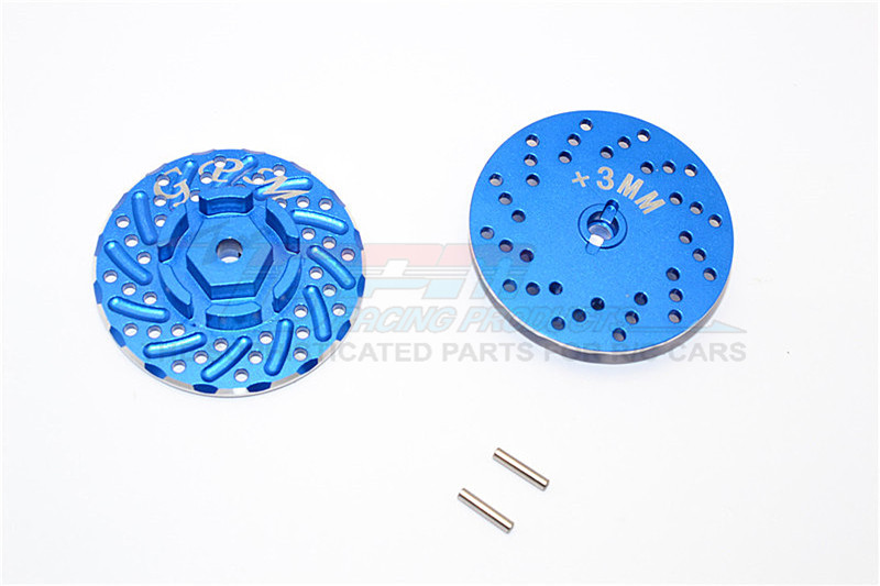 ALUMINIUM FRONT/REAR WHEEL HEX CLAW +3MM WITH BRAKE DISK-2PCS