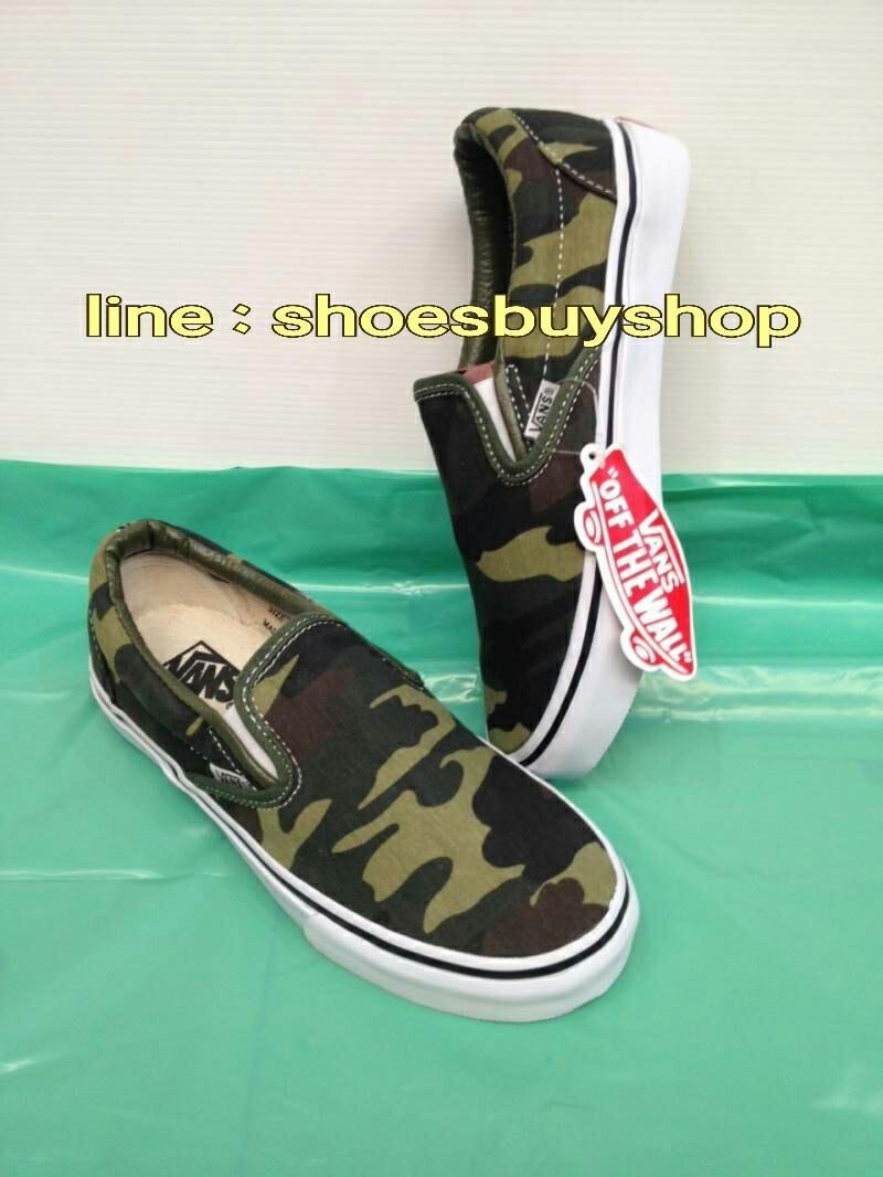 รองเท้า Vans Slip on ลายทหาร