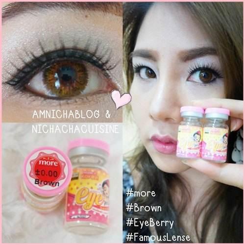 คุณนิชา Amnicha Blogger คอนแทคเลนส์สีน้ำตาลยี่ห้อ Eyeberry จาก Famouslens.com รุ่นMore ขนาดกำลังดี ไม่บิ๊กอาย เน้นเปลี่ยนสีดวงตา