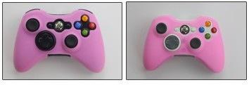 ซิลิโคนจอย xbox360 สีชมพู