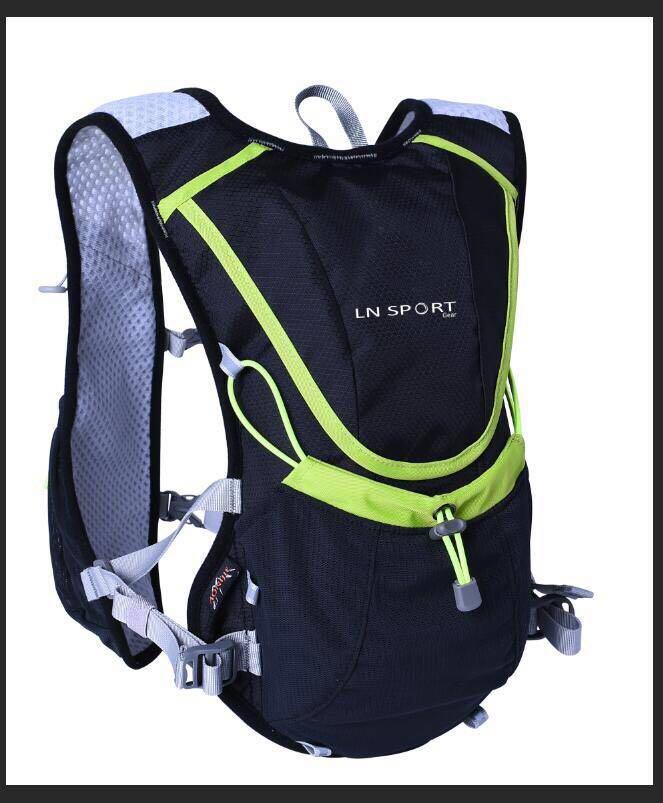 เป้น้ำ เป้วิ่งเทรล LN Sport Gear พร้อมถุงน้ำขนาด 2 ลิตร (สีเทาดำ)