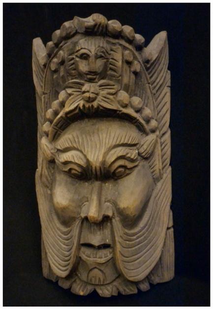 หน้ากากไม้-เทพจีน