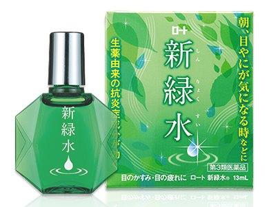 ยาหยอดตา Rohto Fresh Green Water สำหรับหยดตอนเช้า ช่วยลดอาการตาแห้ง ไม่สบายดวงตาระหว่างวัน