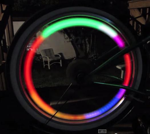 ไฟติดจักรยานแบบ LED ติดตั้งที่วงล้อ แบบสี่แฉก - ไฟมัลติคัลเลอร์ในตัว ไม่ต้องซื้อหลายอัน เหมือนแบบอื่น ไฟปีก 4 แฉก