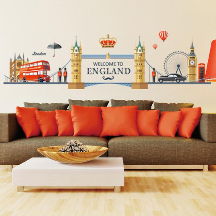 สติ๊กเกอร์กรุงลอนดอนภาพการ์ตูน