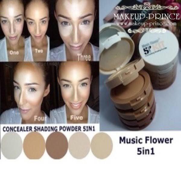Music flower 5 in 1 แป้งผสมคอลซิลเลอร์ 5 เฉดสี