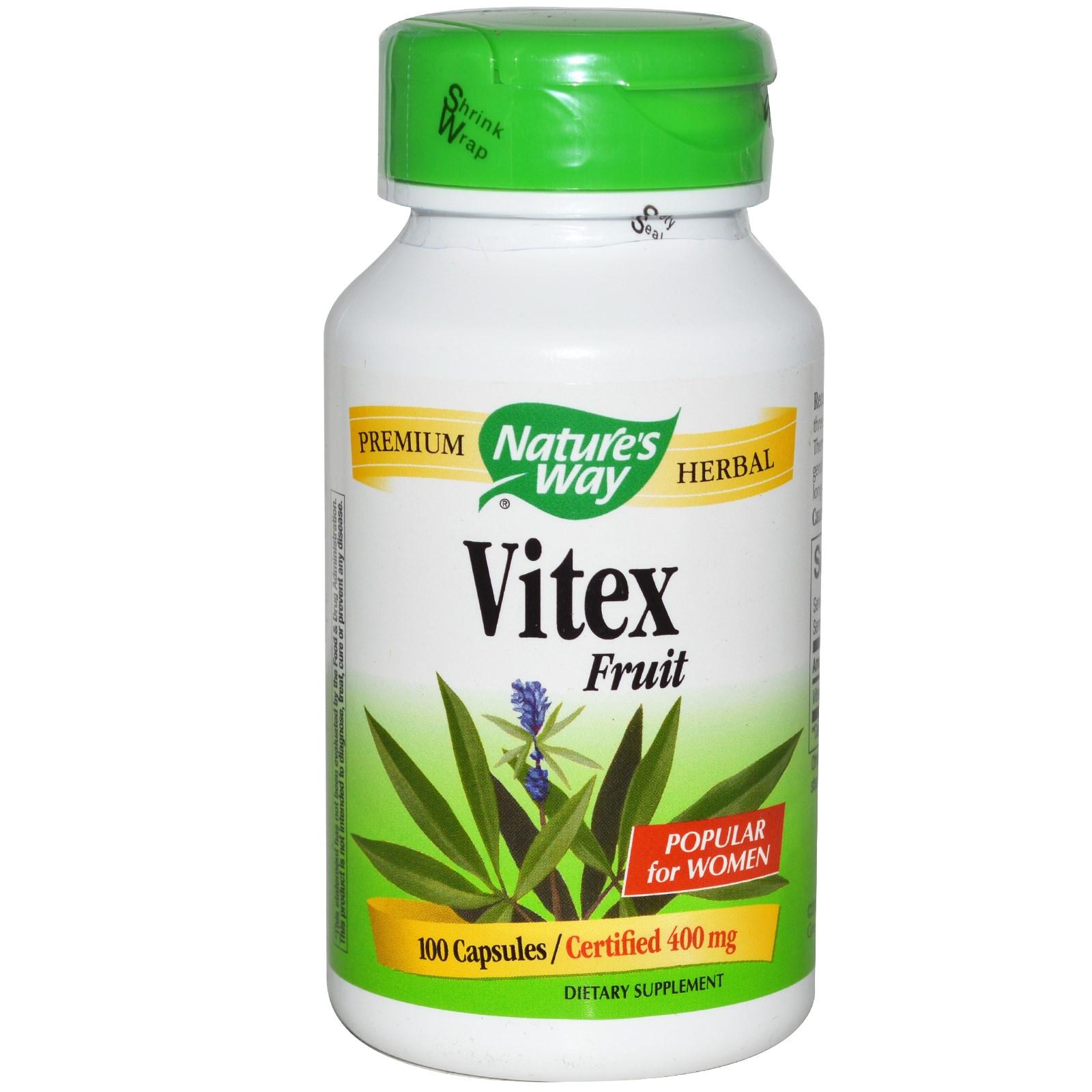 Nature's Way, Vitex Fruit, 400 mg, 100 Capsules